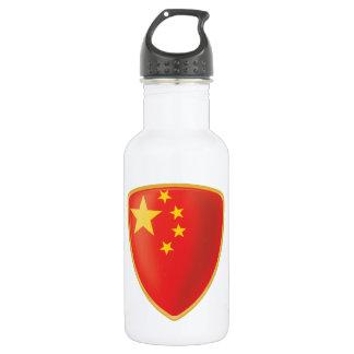 China Flag 18oz Water Bottle