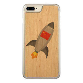 China Flag Rocket Carved iPhone 8 Plus/7 Plus Case