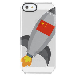 China Flag Rocket Clear iPhone SE/5/5s Case