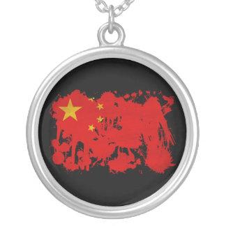 China Flag Round Pendant Necklace