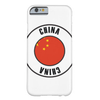 China Flag Simple Dark Barely There iPhone 6 Case
