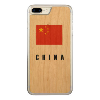 China Flag Simple Dark Carved iPhone 8 Plus/7 Plus Case