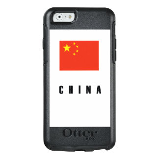 China Flag Simple Dark OtterBox iPhone 6/6s Case