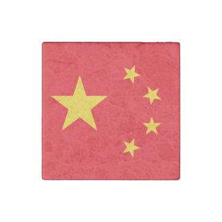 China Flag Stone Magnet