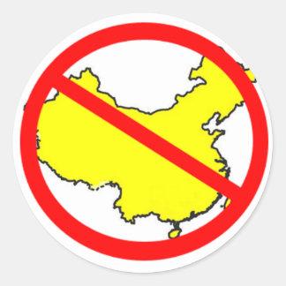 China-free Classic Round Sticker