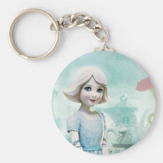 China Girl 1 Basic Round Button Keychain