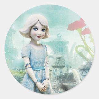China Girl 1 Classic Round Sticker