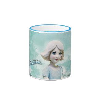 China Girl 1 Ringer Coffee Mug