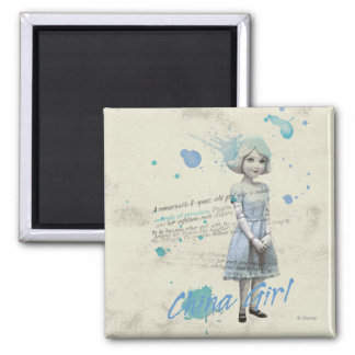 China Girl 2 2 Inch Square Magnet
