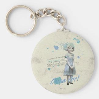 China Girl 2 Basic Round Button Keychain