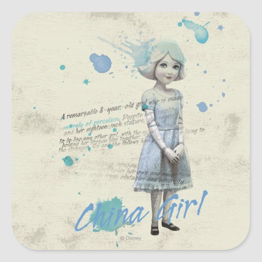 China Girl 2 Square Sticker