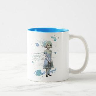 China Girl 2 Two-Tone Coffee Mug