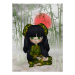China Girl Beautiful Orient Print Poster
