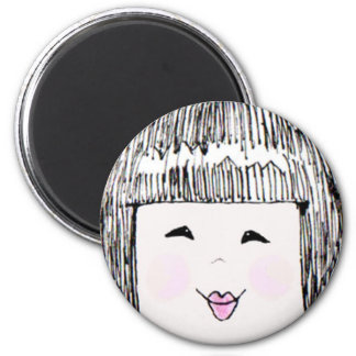 China Girl Face magnet! 2 Inch Round Magnet