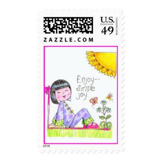 China Girl Stamp