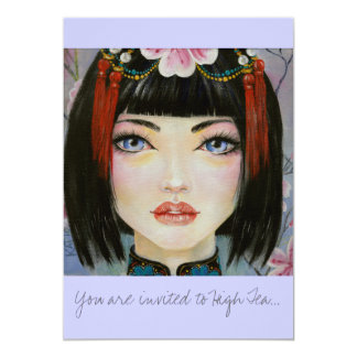 China Girl with Eyes of Blue Card