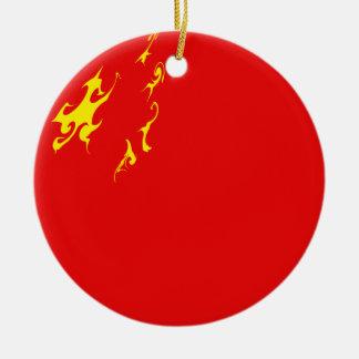 China Gnarly Flag Ceramic Ornament