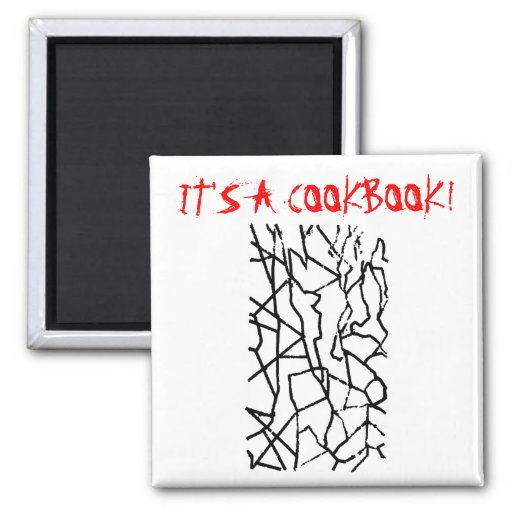 China Grid: It's a Cookbook! 2 Inch Square Magnet