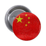 China Grunge Style Flag Buttons