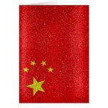 China Grunge Style Flag Card