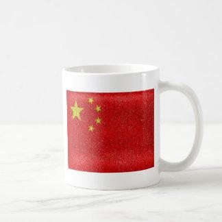China Grunge Style Flag Coffee Mug