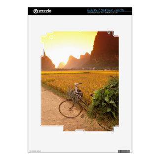 China, Guangxi. Yangzhou, Bicycle on country Decals For iPad 3