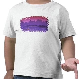 China Guanxi Cormorán del río de Li solo Camisetas
