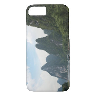 China, Guilin, Li River, River boats line the iPhone 7 Case