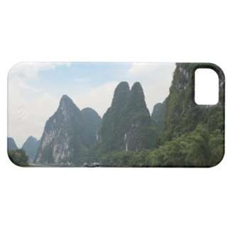 China, Guilin, Li River, River boats line the iPhone SE/5/5s Case