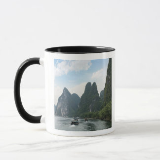 China, Guilin, Li River, River boats line the Mug