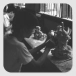 China Guilin stone sculpture workshop 1970 Square Sticker