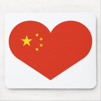 China heart mouse pad