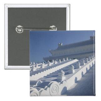 CHINA, Heilongjiang Province, Haerbin (Harbin). 2 Pinback Button