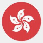 China Hong Kong Flag Round Stickers