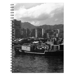 China Hong Kong houseboats river 1970 Notebook