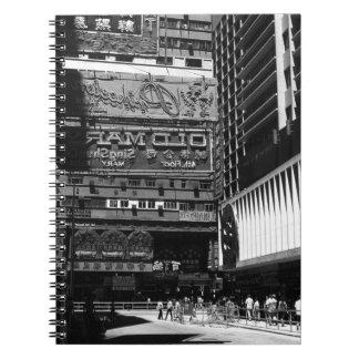 China Hong Kong houseboats river 1970 Spiral Notebook