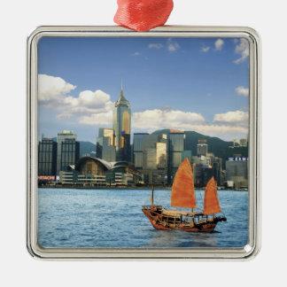 China; Hong Kong; Puerto de Victoria; Puerto; A Adorno Navideño Cuadrado De Metal