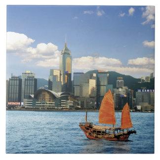 China; Hong Kong; Puerto de Victoria; Puerto; A Azulejo Cuadrado Grande