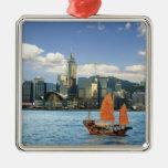 China; Hong Kong; Puerto de Victoria; Puerto; A Ornamento De Navidad