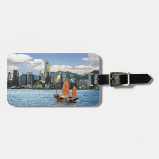 China; Hong Kong; Puerto de Victoria; Puerto; A Etiqueta Para Equipaje