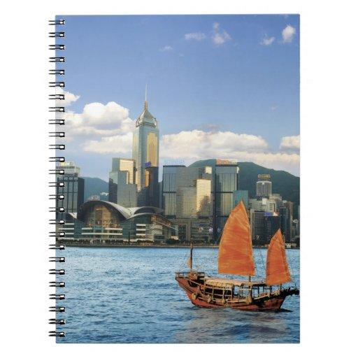 China; Hong Kong; Puerto de Victoria; Puerto; A Libros De Apuntes Con Espiral