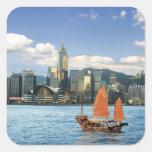 China; Hong Kong; Puerto de Victoria; Puerto; A Pegatina Cuadradas Personalizada