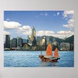 China; Hong Kong; Puerto de Victoria; Puerto; A Póster