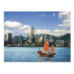 China; Hong Kong; Puerto de Victoria; Puerto; A Tarjeta Postal