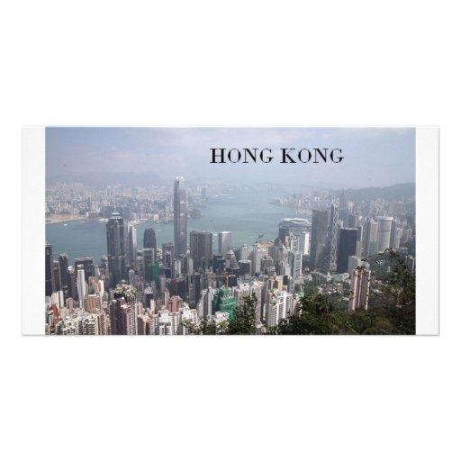 China, Hong Kong (St.K) Photo Card Template