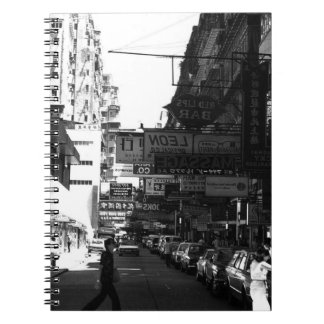 China Hong Kong street City cars 1970 Notebook