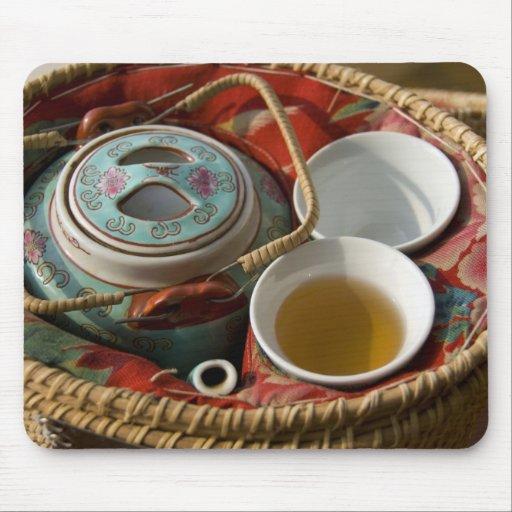 China, Hong Kong. Traditional Chinese teapot & 3 Mouse Pad
