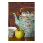 China, Hong Kong. Traditional Chinese teapot & 3 Photo Print