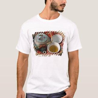 China, Hong Kong. Traditional Chinese teapot & 3 T-Shirt