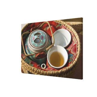 China, Hong Kong. Traditional Chinese teapot & Canvas Print
